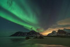 Aurora at Skagsanden