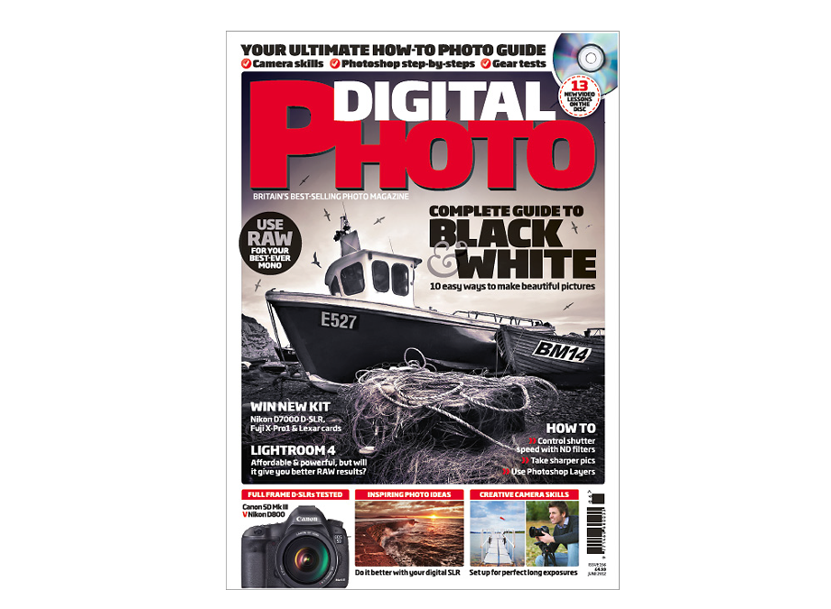 Digital Photo Magazine – Front Cover & Double Page Spread